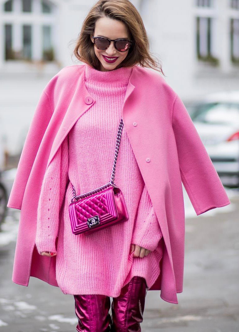 pink-magenta-dress-sweater-pink-bag-pink-magenta-jacket-coat-hairr-sun-pink-magenta-shoe-boots-mono-fall-winter-dinner.jpg