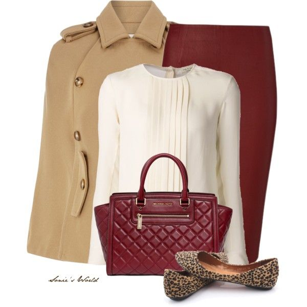 red-pencil-skirt-white-top-blouse-camel-jacket-coat-red-bag-leopard-howtowear-fashion-style-outfit-fall-winter-cape-tan-shoe-flats-work.jpg
