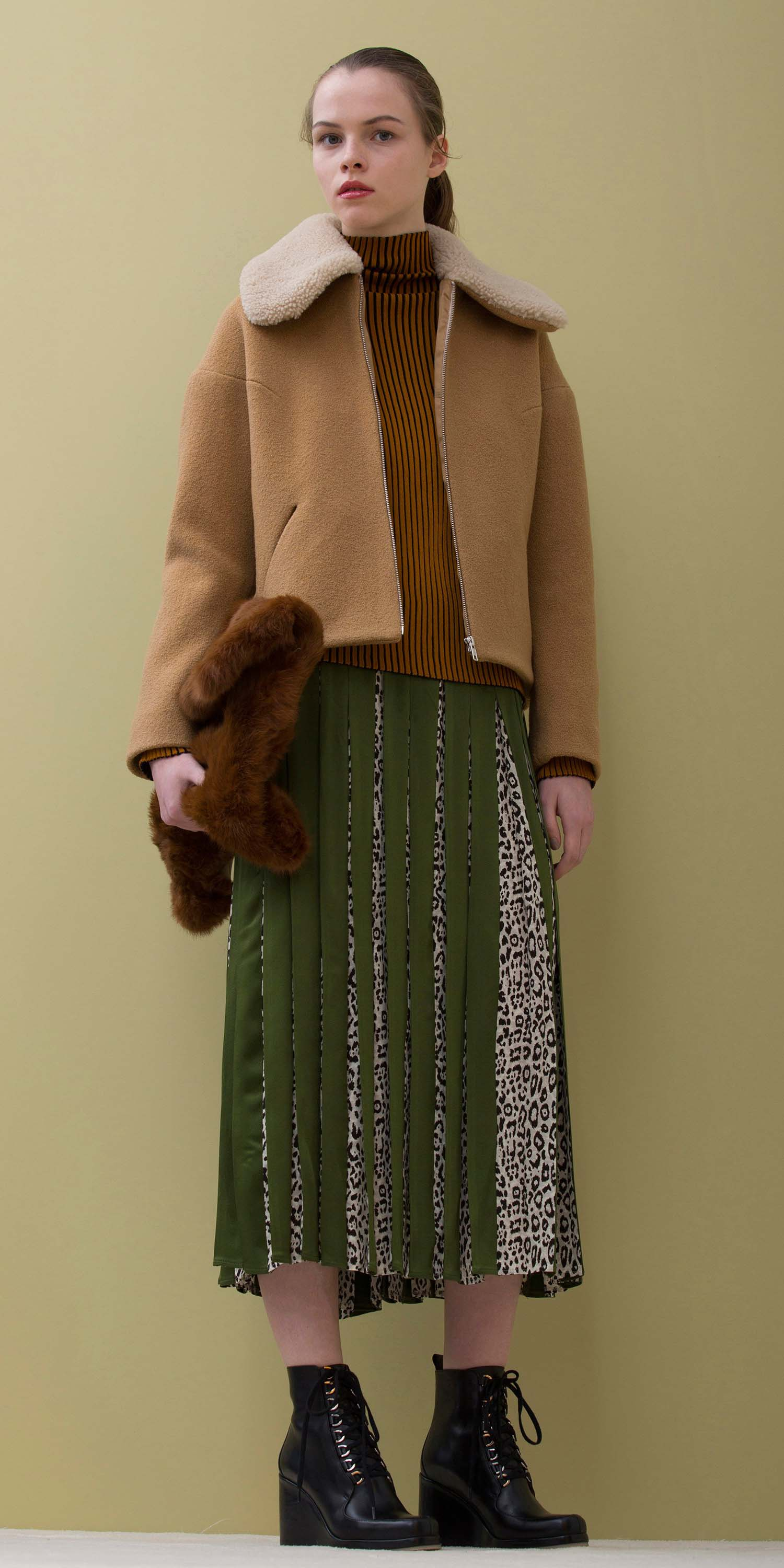 green-olive-midi-skirt-camel-sweater-turtleneck-pony-black-shoe-booties-camel-jacket-coat-fall-winter-hairr-lunch.jpg