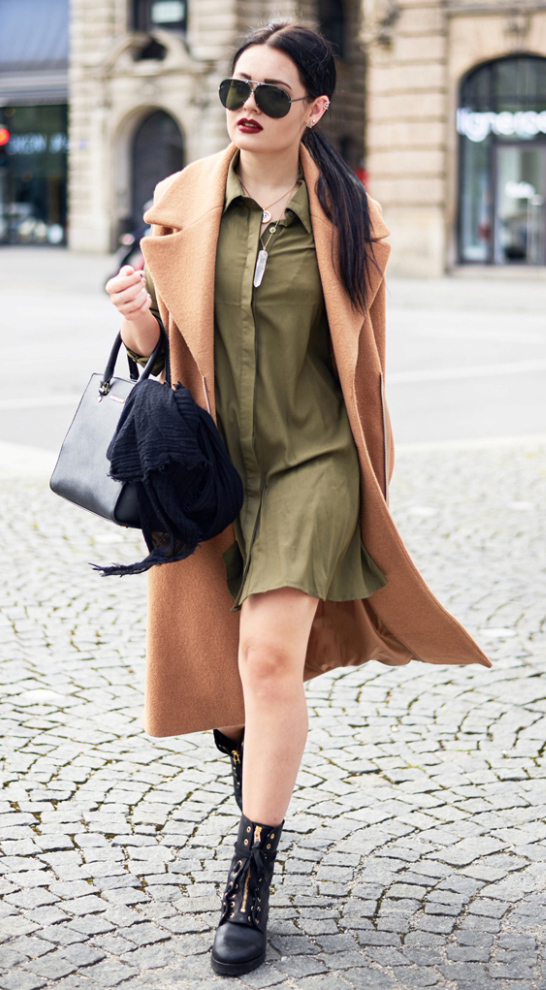 green-olive-dress-camel-jacket-coat-sun-shirt-pony-black-bag-black-shoe-booties-howtowear-fashion-style-outfit-fall-winter-brun-lunch.jpg