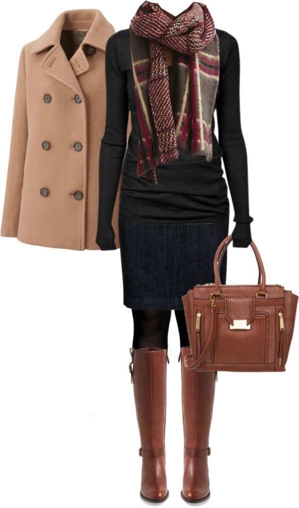 blue-navy-pencil-skirt-black-sweater-camel-jacket-coat-swing-howtowear-fashion-style-outfit-fall-winter-black-tights-plaid-red-scarf-cognac-shoe-boots-cognac-bag-weekend.jpg