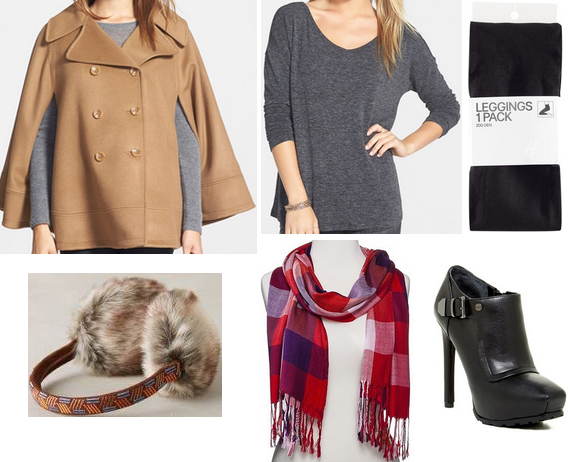 black-leggings-grayd-sweater-camel-jacket-coat-cape-howtowear-fashion-style-outfit-fall-winter-tunic-red-scarf-print-taylorswift-black-shoe-booties-earmuffs-lunch.jpg