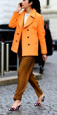 camel-jumpsuit-brun-pony-pink-shoe-pumps-slingbacks-orange-jacket-coat-peacoat-fall-winter-work.jpg