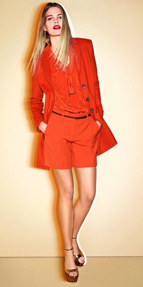 orange-shorts-orange-top-blouse-mono-orange-jacket-coat-blonde-tan-shoe-sandalw-spring-summer-lunch.jpg