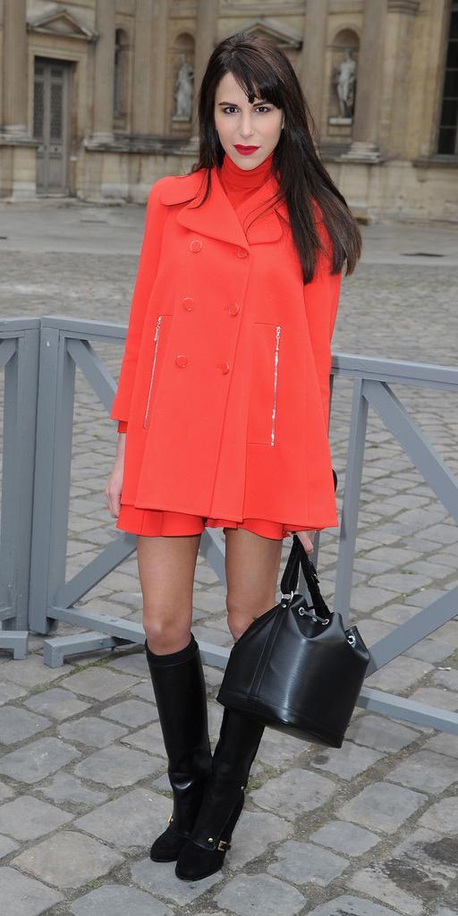 orange-dress-mini-swing-turtleneck-brun-black-shoe-boots-black-bag-orange-jacket-coat-peacoat-fall-winter-dinner.jpg