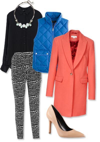black-joggers-pants-zprint-black-top-blouse-howtowear-fashion-style-outfit-fall-winter-blue-med-vest-puffer-orange-jacket-coat-bib-necklace-tan-shoe-pumps-dinner.jpg
