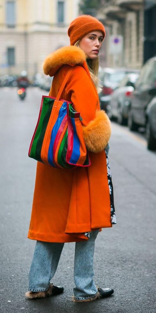 how-to-style-orange-jacket-coat-beanie-rainbow-tote-blonde-fall-winter-fashion-weekend.jpg