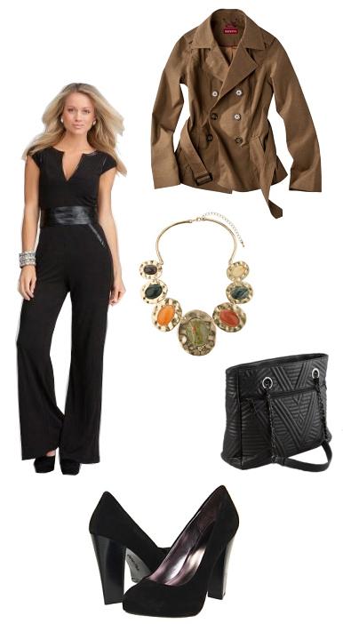 black-jumpsuit-brown-jacket-coat-trench-bib-necklace-black-shoe-pumps-black-bag-wide-belt-howtowear-fashion-style-outfit-spring-summer-blonde-work.jpg