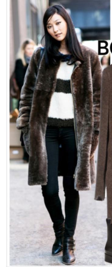 black-skinny-jeans-black-sweater-stripe-howtowear-style-fashion-fall-winter-black-shoe-booties-brown-jacket-coat-fur-fuzz-brun-lunch.jpg
