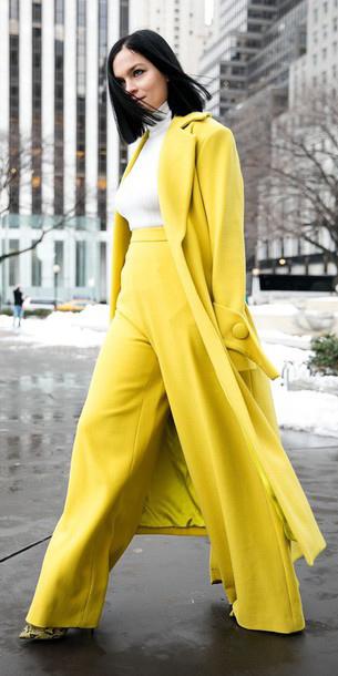 yellow-wideleg-pants-white-top-yellow-jacket-coat-mono-fall-winter-brun-dinner.jpg