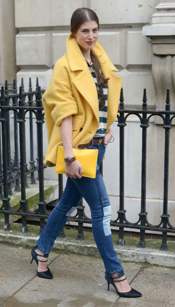 blue-med-skinny-jeans-yellow-jacket-coat-yellow-bag-clutch-hairr-pony-green-dark-collared-shirt-bold-stripe-fall-winter-lunch.jpg