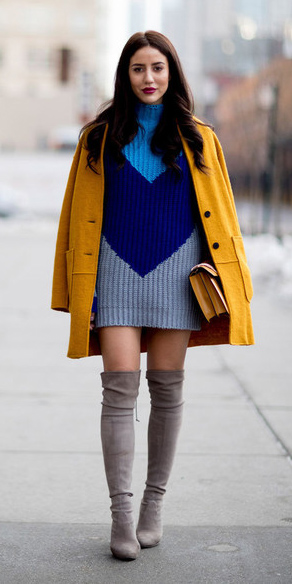blue-navy-dress-sweater-gray-shoe-boots-otk-yellow-jacket-coat-fall-winter-brun-dinner.jpg
