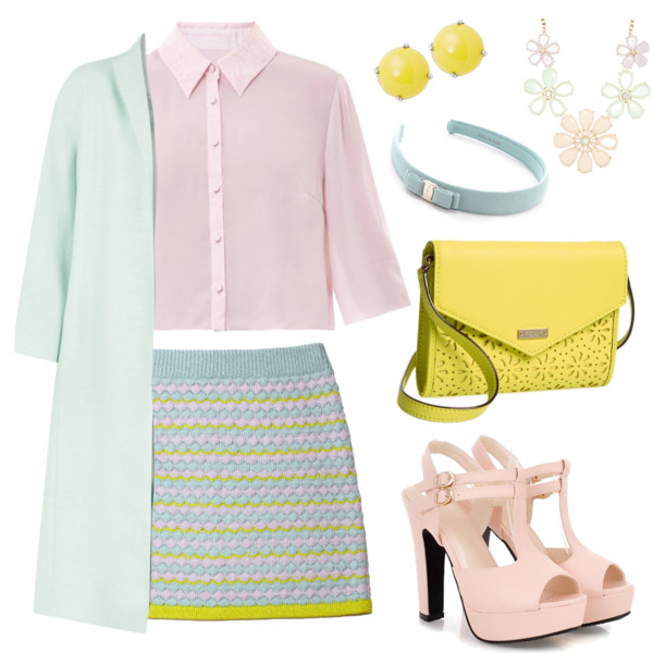 blue-light-mini-skirt-r-pink-light-top-blouse-pink-shoe-sandalh-yellow-bag-studs-head-necklace-green-light-jacket-coat-howtowear-fashion-style-outfit-spring-summer-dinner.jpg