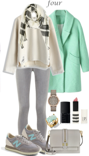 grayl-skinny-jeans-white-sweater-howtowear-fashion-style-outfit-fall-winter-green-light-jacket-coat-pastel-plaid-white-scarf-gray-shoe-sneakers-watch-ring-white-bag-weekend.jpg