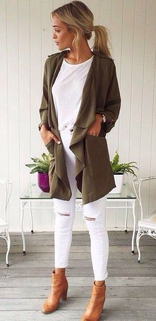 white-skinny-jeans-white-tee-green-olive-jacket-coat-cognac-shoe-booties-pony-howtowear-fashion-style-outfit-blonde-spring-summer-lunch.jpg