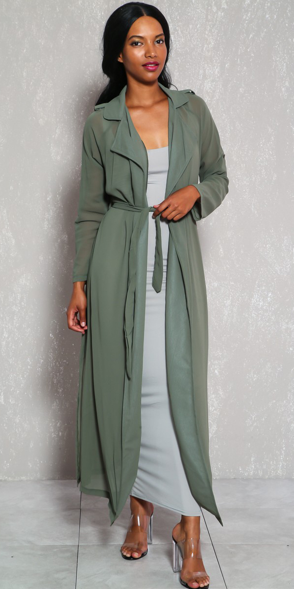 grayl-dress-bodycon-maxi-brun-clear-shoe-sandalh-green-olive-jacket-coat-trench-spring-summer-lunch.jpg