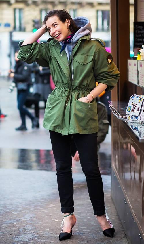 black-skinny-jeans-green-olive-jacket-coat-grayl-sweater-sweatshirt-hoodie-black-shoe-pumps-fall-winter-work.jpg