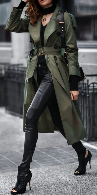 black-skinny-jeans-leather-black-shoe-booties-brun-green-olive-jacket-coat-trench-fall-winter-lunch.jpg