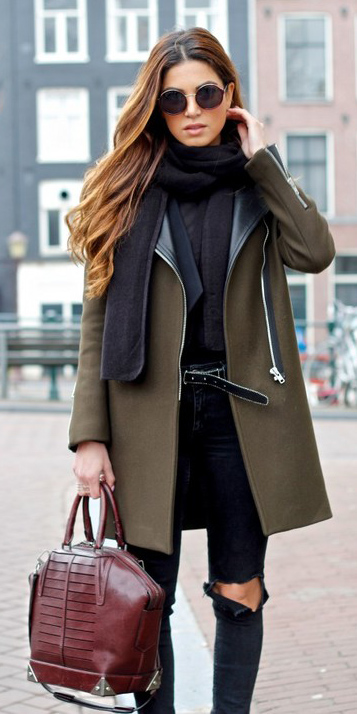 black-skinny-jeans-black-scarf-belt-green-olive-jacket-coat-fall-winter-hairr-lunch.jpg