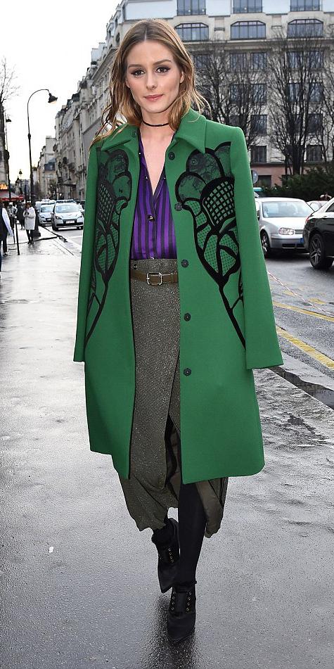 brown-midi-skirt-belt-purple-royal-top-blouse-oliviapalermo-black-shoe-booties-black-tights-choker-green-emerald-jacket-coat-fall-winter-hairr-dinner.jpg