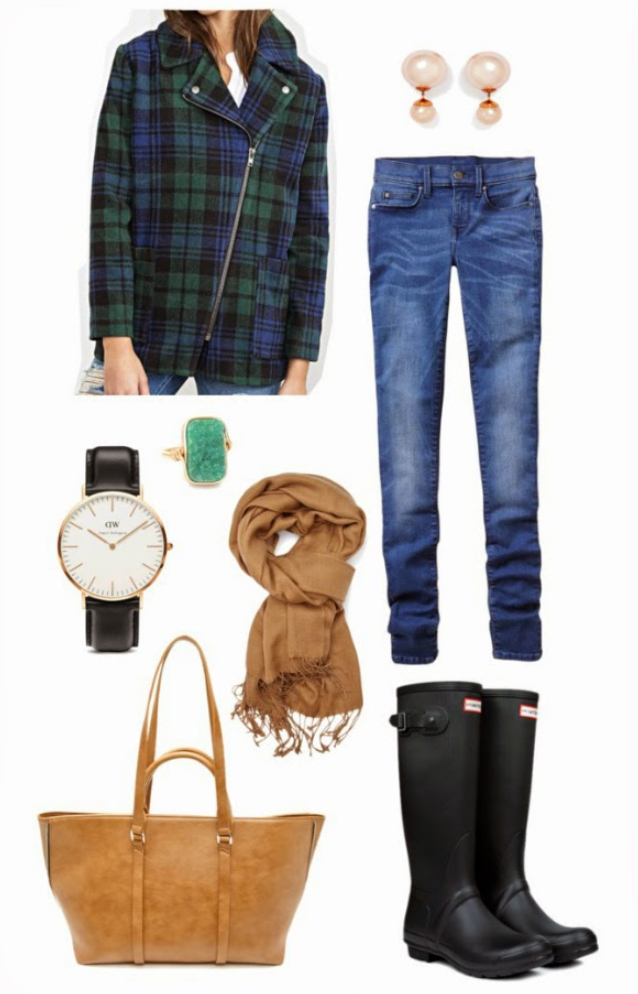 blue-med-skinny-jeans-green-emerald-jacket-coat-howtowear-style-fashion-fall-winter-black-shoe-boots-ring-pearl-studs-watch-cognac-bag-tote-plaid-camel-scarf-weekend.jpg