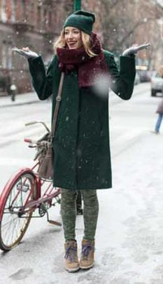 green-dark-jacket-coat-beanie-blonde-burgundy-scarf-snow-fall-winter-weekend.jpg