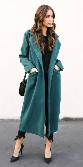 black-shoe-pumps-hairr-black-bag-green-dark-jacket-coat-trench-fall-winter-dinner.jpg