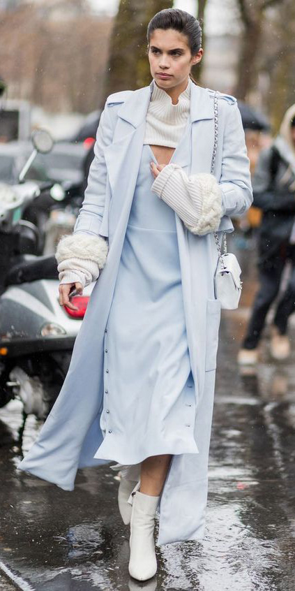 blue-light-dress-midi-white-sweater-turtleneck-layer-hairr-white-shoe-booties-blue-light-jacket-coat-trench-fall-winter-dinner.jpg