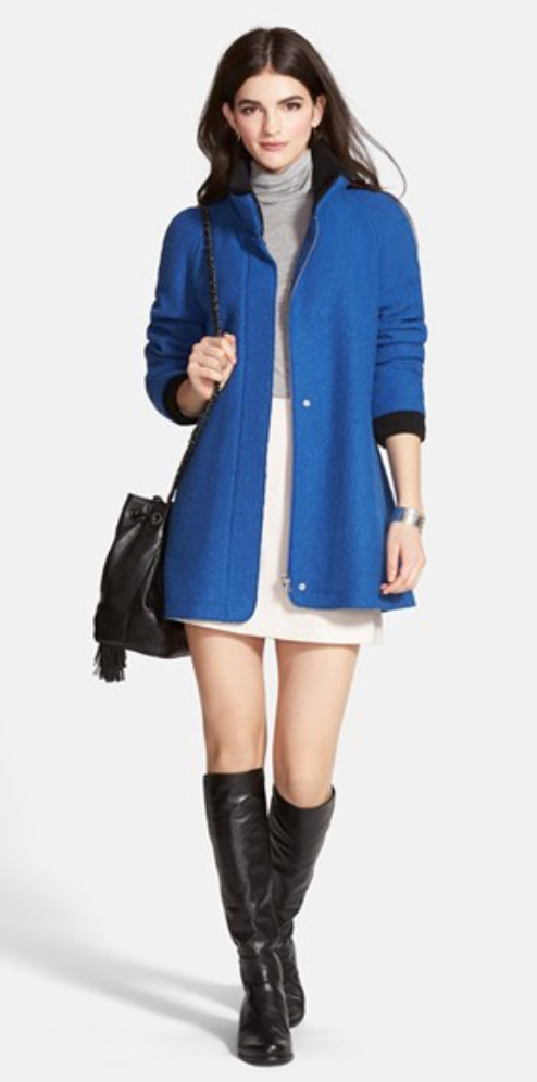 white-mini-skirt-grayl-tee-blue-med-jacket-coat-black-bag-cobalt-howtowear-fashion-style-outfit-fall-winter-black-shoe-boots-turtleneck-brun-weekend.jpg