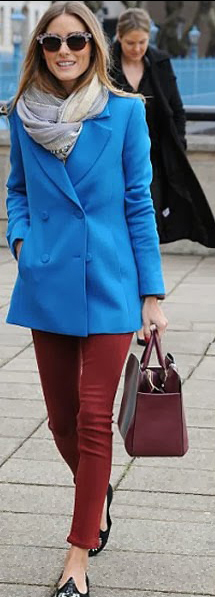 red-skinny-jeans-blue-med-jacket-coat-oliviapalermo-wear-outfit-fashion-fall-winter-black-shoe-flats-grayl-scarf-burgundy-bag-sun-hairr-lunch.jpg