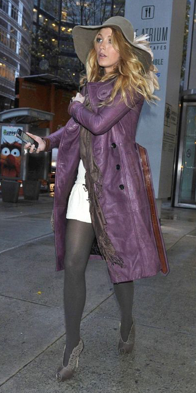gray-tights-gray-shoe-booties-blonde-hat-blakelively-purple-royal-jacket-coat-trench-fall-winter-lunch.jpg