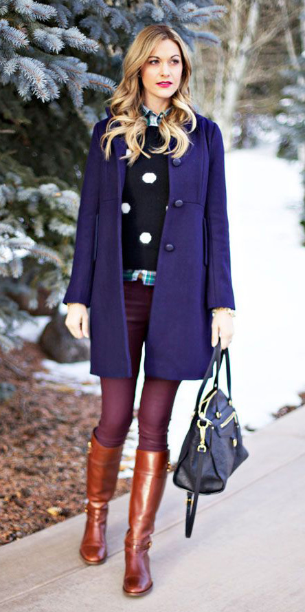 burgundy-skinny-jeans-black-sweater-dot-print-layer-cognac-shoe-boots-purple-royal-jacket-coat-fall-winter-blonde-lunch.jpg
