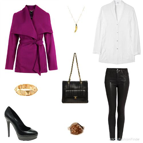 black-skinny-jeans-white-collared-shirt-purple-royal-jacket-coat-ring-black-bag-bracelet-necklace-pend-black-shoe-pumps-howtowear-fashion-style-outfit-fall-winter-lunch.jpg
