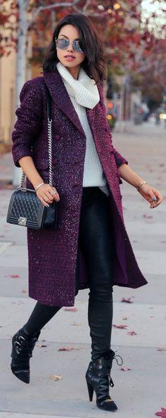black-skinny-jeans-white-sweater-sleeveless-purple-royal-jacket-coat-black-shoe-booties-sun-fall-winter-outfit-brun-dinner.jpg