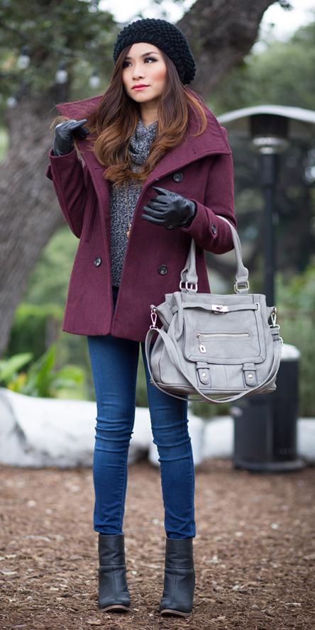 blue-navy-skinny-jeans-grayd-turtleneck-beret-gray-bag-gloves-black-shoe-booties-brun-purple-royal-jacket-coat-peacoat-fall-winter-weekend.jpg
