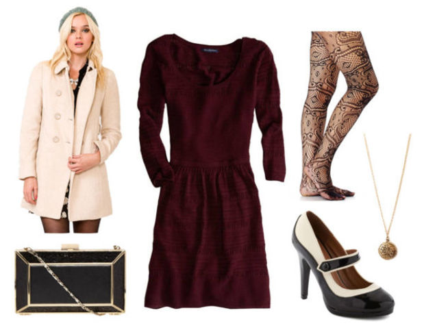 burgundy-dress-white-jacket-coat-black-shoe-pumps-black-tights-black-bag-clutch-fall-winter-sweater-necklace-pend-dinner.jpg