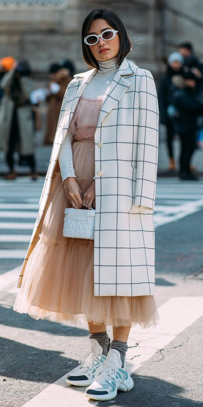 tan-dress-midi-chiffon-white-tee-turtleneck-layer-windowpane-sun-brun-white-bag-socks-white-shoe-sneakers-white-jacket-coat-fall-winter-lunch.jpg