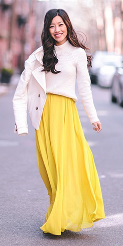 yellow-maxi-skirt-white-sweater-wear-style-fashion-fall-winter-white-jacket-coat-brun-lunch.jpg