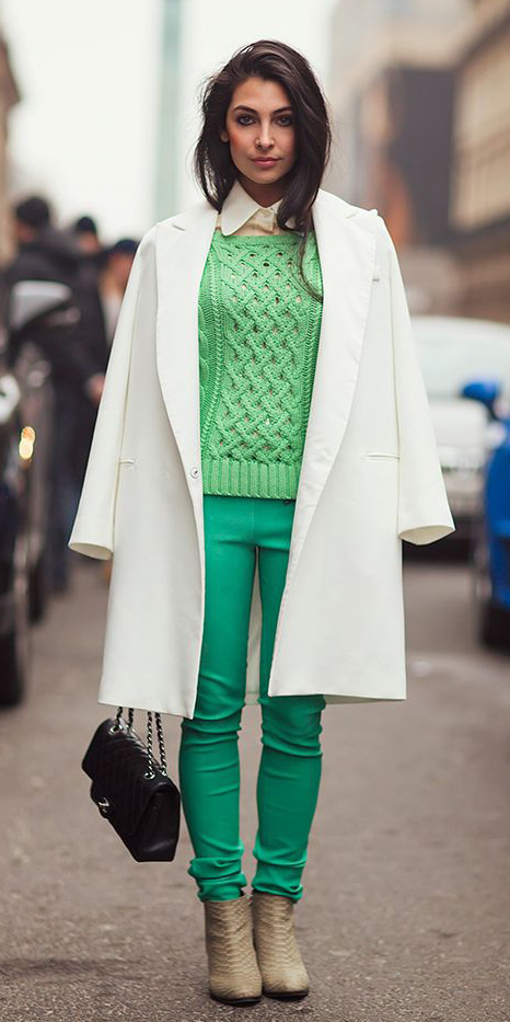 green-emerald-skinny-jeans-green-emerald-sweater-white-jacket-coat-tan-shoe-booties-brun-black-bag-white-collared-shirt-fall-winter-lunch.jpg