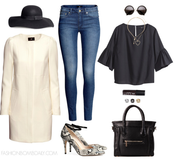 blue-med-skinny-jeans-black-top-white-jacket-coat-white-shoe-pumps-snakeskin-black-bag-sun-howtowear-fashion-style-outfit-fall-winter-bellsleeve-necklace-hat-lunch.jpg