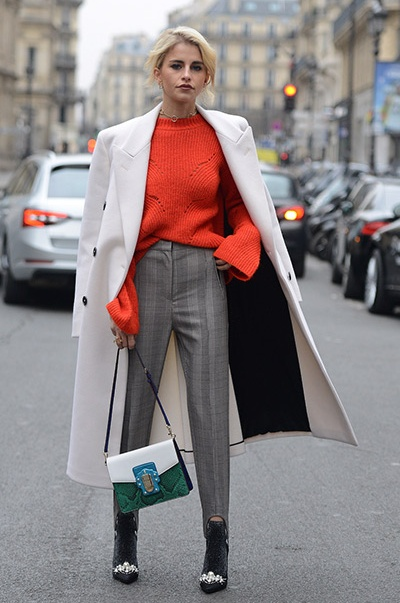 grayl-slim-pants-orange-sweater-green-bag-white-jacket-coat-blonde-bun-fall-winter-lunch.jpg