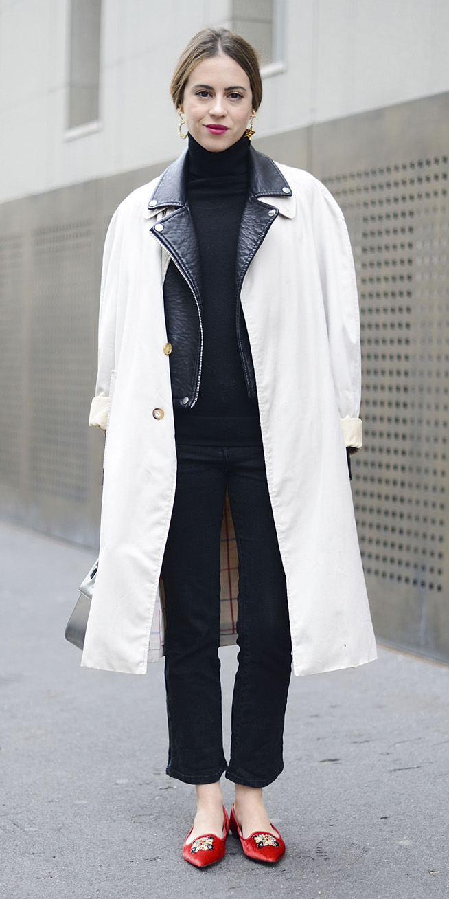 black-crop-jeans-earrings-pony-hairr-black-sweater-turtleneck-red-shoe-flats-layer-white-jacket-coat-trench-fall-winter-lunch.jpg