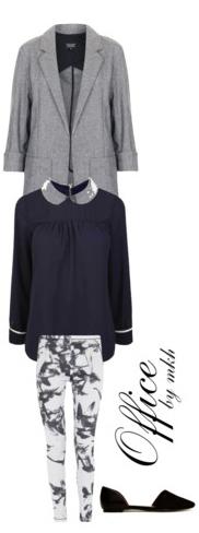 white-slim-pants-zprint-blue-navy-top-blouse-grayl-jacket-coat-black-shoe-flats-fall-winter-work.jpg