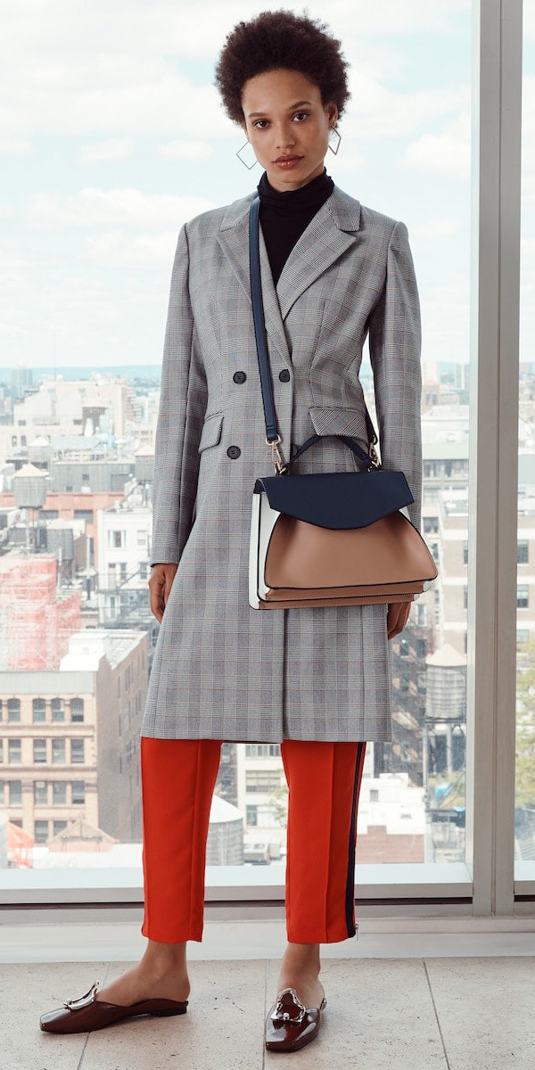 orange-slim-pants-trackpants-grayl-jacket-coat-black-sweater-turtleneck-tan-bag-brun-hoops-burgundy-shoe-loafers-fall-winter-lunch.jpg