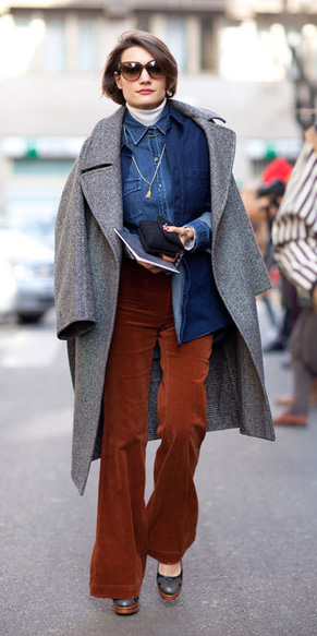 camel-flare-jeans-blue-med-collared-shirt-chambray-grayl-jacket-coat-layer-sun-fall-winter-hairr-lunch.jpg