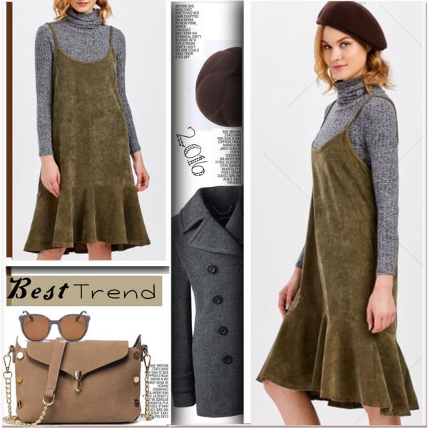 green-olive-dress-slip-velvet-sun-tan-bag-beret-blonde-grayl-tee-turtleneck-grayl-jacket-coat-peacoat-fall-winter-lunch.jpg