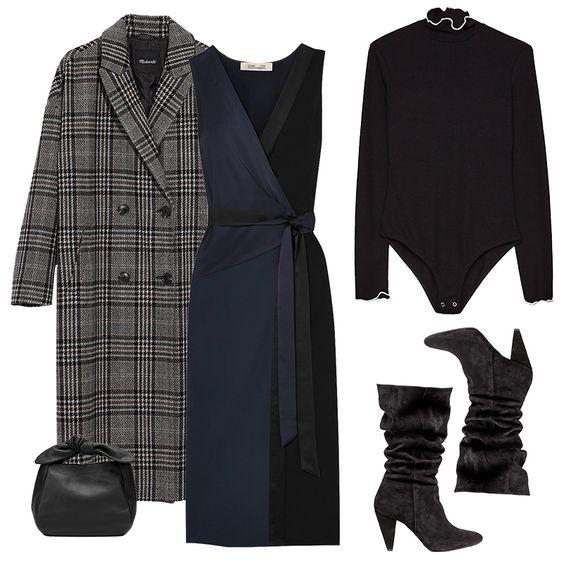 blue-navy-dress-wrap-black-top-layer-plaid-black-bag-grayl-jacket-coat-black-shoe-boots-fall-winter-lunch.jpg