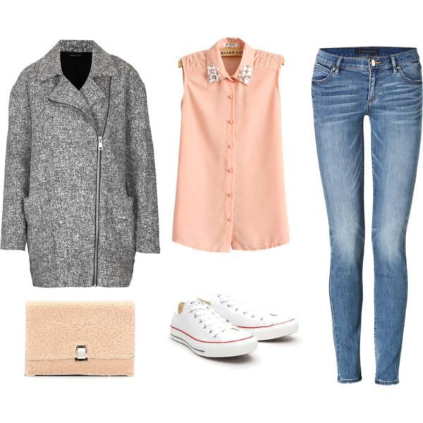 blue-med-skinny-jeans-grayl-jacket-coat-white-shoe-sneakers-tan-bag-peach-collared-shirt-spring-summer-weekend.jpg