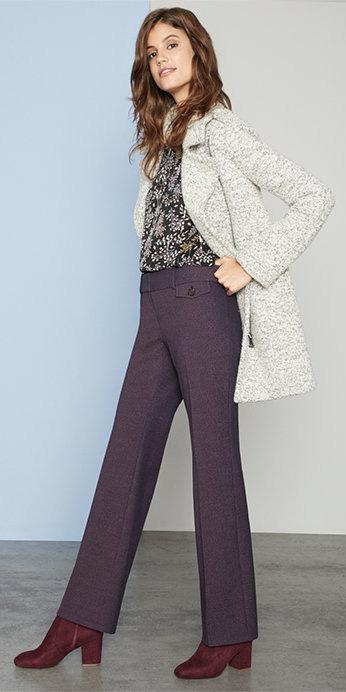 purple-royal-wideleg-pants-burgundy-shoe-booties-grayl-jacket-coat-fall-winter-hairr-work.jpg