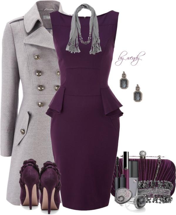 purple-royal-dress-grayl-jacket-coat-grayl-scarf-purple-shoe-pumps-studs-purple-bag-clutch-shift-howtowear-fashion-style-outfit-fall-winter-work.jpg